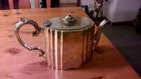 viktorianische Teekanne Silberkanne reich verziert silver pl England