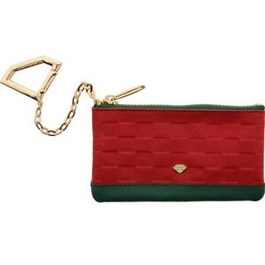 $45 Diamond Supply Co Crock And Leather Chain Wallet (red / green)