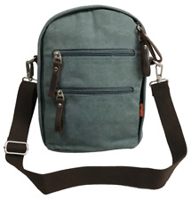 Canvas 12 inch Notebook Crossbody Convertible Backpack & Sling - Sage Green
