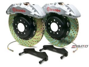 Brembo Front GT Brake BBK 6pot Silver 380x34 Drill Escalade Chevy GMC 1500 07-14
