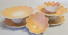 Vintage~Fire King~ Lotus~Peach Color~Flower Petal Plates & Bowls-8 pc. set.
