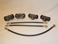 1958 58 Lincoln 4 Brake Wheel Cylinders & 3-Hoses NEW 7-Piece Kit