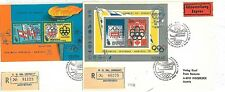 OLYMPICS AIRPLANES:  2 FDC COVERS - URUGUAY 1975: RARE!