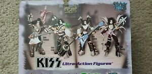 Set of 4 NEW KISS McFarlane Ultra Action Figures Mint Condition.
