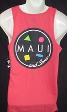 MENS MAUI AND SONS CORAL TANK TOP T-SHIRT SIZE L