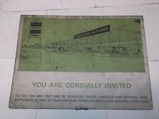 Used 1967 Dealership Poster for Plymouth, Dodge, Chrysler & Imperial Cars