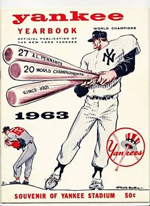1963 New York Yankees Yearbook Mantle  Maris  4/8/1963 Roster Date
