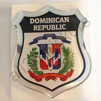 Pegatina Republica Dominicana Escudo de Armas 3D Emblema Vinilo Adhesivo Resina