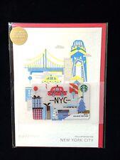 Starbucks 2016 New York City NYC Christmas Holiday Gift Card Limited Edition