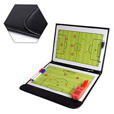 Folder Magnetic Soccer Coaching Board Clipboard Tactical Kits With Whistle