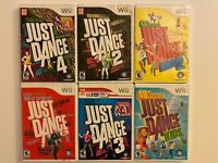 Just Dance Game Bundle Lot Nintendo Wii  Tested Just Dance 1 2 3 4 Kids