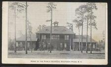 Postcard Southern Pines North Carolina/Nc Public School Campus Building 1907