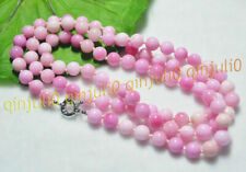 """8/10MM Natural Pink Multi-Color Kunzite Round Gemstone Beads Necklaces 16-65"""""""