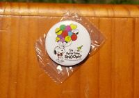 "Snoopy It's Party Time Peanuts 65th Anniversary 1 3/4"" Lapel Pin Pinback Button"