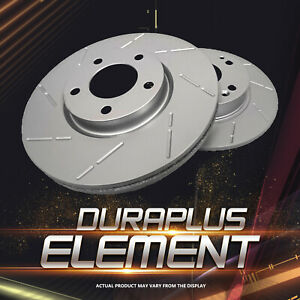 [Rear Coated Slotted Brake Rotors Ceramic Pads] Fit 94-96 Chevrolet Impala