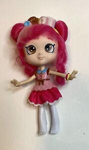 """Shopkins Shoppies DONATINA Doll Princess 5.5"""" Pink Hair Brown Eyes Headband"""