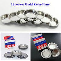 12pcs/set UA-90020A Model Color Plate Hobby Painting Color Paint Palette Tools