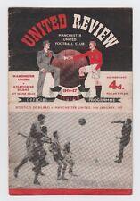 Orig.PRG   EC 1  1956/57  MANCHESTER UNITED - ATLETICO BILBAO  1/4 FINALE !! TOP