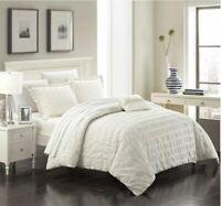 Chic Home - DS3116 - Millbury 4-Piece Duvet Set - White