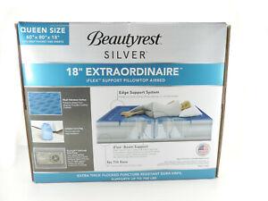Silver Extraordinaire Raised Air Mattress with iFlex Support & Hybrid Pump QUEEN