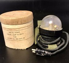 Signal Corps Signal Lamp M-308-B Cnk Military Light Flashlight With Original Box