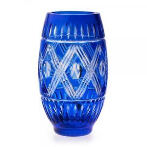 NEW Waterford Cased Cobalt Vase - Retail $250