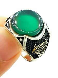 Real> Turkish Ottoman Jewelry Handmade Quality 925 Silver Men's Rings D1566
