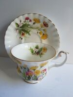 Royal Albert Bone China Tea Cup and Saucer Set Vtg Country Life Meadow Field