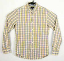 J. Crew Mens Jaspe Slim Fit Long Sleeve Cotton Plaid Shirt Size Small