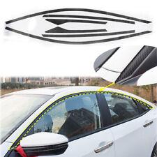 6x Chrome Delete Vinyl Carbon Fiber Trims Kit For Honda Civic Sedan 2016-2020