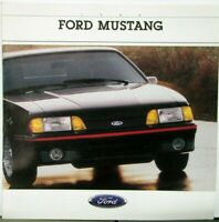 1988 Ford Mustang LX GT Packages Options Sales Brochure Oversized Original