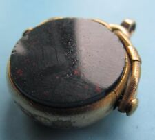 Vintage  bloodstone & compass pocket watch fob