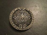 MAYAN CALENDAR Round New BELT BUCKLE Silver Metal Pewter Maya Aztec