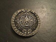 MAYAN calendario Redondo Nueva Hebilla de Cinturón Plata Metal Estaño Maya Azteca