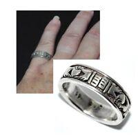 Bague anneau en argent massif 925 claddagh T 50 bijou ring