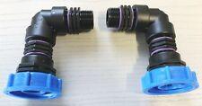 2x aat8482 finalizara ibc-contenedor-Accesorios-agua de lluvia-tank adaptador-jardín-tonelada