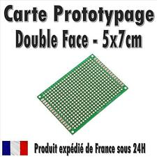 Carte Prototypage - 5x7 cms - Double face - Pas 2,54mm (PCB board)