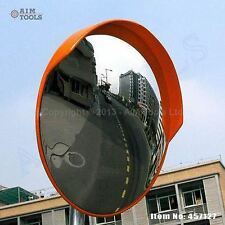 457127 Traffic Wide Angle Security Curved Convex Road Mirror 180 Degrees 80cm