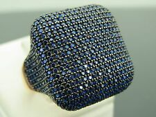 Turkish Handmade Jewelry 925 Sterling Silver Sapphire Stone Ladies' Ring Sz 7