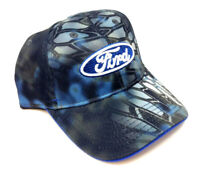 FORD LOGO KRYPTEK NEPTUNE BLUE ADJUSTABLE CURVED BILL SNAPBACK HAT CAP RETRO NWT