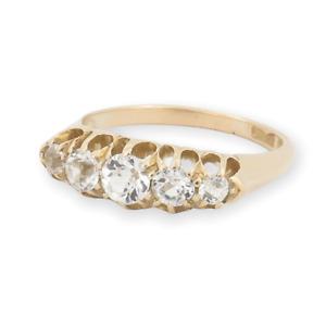 .Australian S.Ltd Handmade Antique 18ct Gold White Sapphire Ring Size M Val$1800