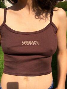 vintage  Versace crop top débardeur brassière S 80s 90s