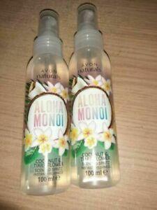 2x Avon Naturals Spritz-Coconut & Tiare Flower