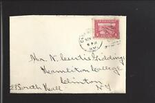 CAZENOVIA, NEW YORK 1914,#398 TO HAMILTON COLLEGE. LETTER ENCL. MADISON CO /OP.