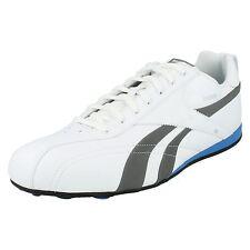 REEBOK'exsporter'homme blanc/ gris/ Bleu/noir / argent Baskets UK 12