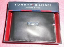 TOMMY HILFIGER MEN'S LEATHER - BLACK  WALLET