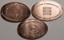Estonia - elongated coins of the Museum of Tallinn Technical University