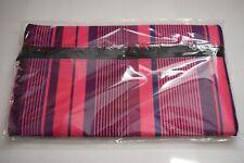 Pink Stripe Flat Pencil Case