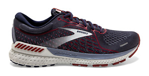 Men's Brooks Adrenaline GTS 21 Running Shoes Navy Red Sizes 8-14 FREE SHIPPING