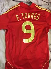 *TORRES #9 Spain Home Football Shirt Jersey Camiseta L Liverpool*